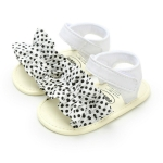 Baby Infant Kid Girl Soft Sole Crib Summer Princess Sandals Shoes, Baby Age:6-9 Months(White)