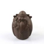 3 PCS Creative Tea Set Ornaments Purple Sand Kiln Tea Pet Fu Lu Shou Tea Pet(3)