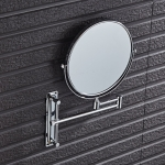 Wall-Mounted Hotel Vanity Mirror Folding Double-Sided Bathroom Mirror Beauty Mirror, Size: 8 inch