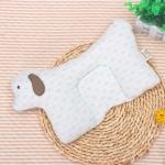 Baby U-shaped Pillow Neck Correction Child Torticollis Correction Neck Pillow(Green Snowflake Point )