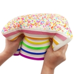 Jumbo Rainbow Triangle Cake Squeeze Toy Slow Rising Stress Relif Toys for Kids