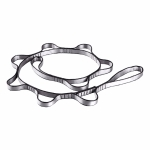 Aerial Yoga Hammock 7 Ring Extension Belt Nylon High-Strength Double Belt Hammock Strap, Length: 1.1m(Gray)