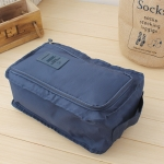 2 PCS Waterproof Shoes Bag Pouch Storage Travel Bag Portable Shoes Organizer(Navy Blue)