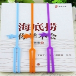 5 PCS Silicone Bookmarks Elasticity Finger Bookends Book Clip Organizer Random Color Delivery