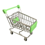 Creative Mini Simulation Supermarket Shopping Cart Children Role-playing Toys, Random Color Delivery