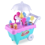 Simulation Candy Ice Cream Mini Detachable Trolley Child Cosplay Toy, Random Color Delivery
