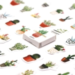 5 PCS That Touch of Green Plant Hand Stickers Stickers DIY Decorative Seal Stickers