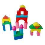 Wooden Mini Castle Building Blocks Geometric Cognition Children Early Education Toys