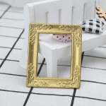 Doll House Toy Accessories Miniature Decorative Pattern Frame(Gold)
