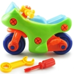 Plastic Screw Nut Disassembly Motorcycle Child Intelligence Assemble Toy