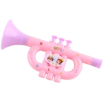 3 PCS Cute Cartoon Plastic Trumpet Children Music Toy, Random Color Delivery