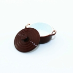 Doll House Mini Accessories Kitchen Cooking Utensils Mini Candy Color Soup Pot(Brown)