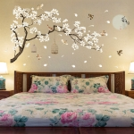 2 PCS/Set DIY Tree Birds Flower Home Decor Wall Stickers