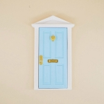 1:12 Doll House Miniature Fairy Tale Door Playing House Toy(Sky Blue)
