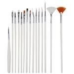 15 PCS/Set Nail Art Tools Brushes for Manicure Rhinestones Nails Decorations Nail Nrush Kit Painting Fingernail Tool Pen Kit