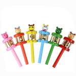 Cartoon Animal Wooden Rattle Children Educational Music Toy, Random Style Delivery
