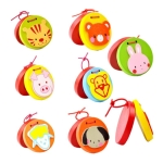 Baby Cartoon Animal Wooden Castanets Clapper Children Educational Music Toy, Random Style Delivery