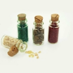 4 PCS / Set Doll House Kitchen Accessories Miniature Glass Food Bottle