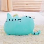 3 PCS Soft Plush Stuffed Animal Doll Anime Toy Cute Cushion(Blue)