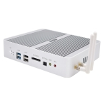 HYSTOU P03B-I5-7260U Fanless Mini PC Intel Core i5 7260u Processor Quad Core up to 2.2GHz, RAM: 16G, ROM: 256G, Support Win 7 / 8 / 10 / Linux(White)