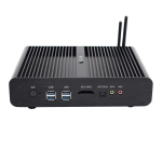 HYSTOU P05B-I3-5005U-2C Fanless Mini PC Intel Core i3 5005u Processor Quad Core up to 2.0GHz, RAM: 8G, ROM: 256G, Support Win 7 / 8 / 10 / Linux(Black)