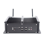 HYSTOU P12-I5-8250U Fanless Mini PC Intel Core i5-8250U Processor Quad Core up to 1.6GHz, RAM: 4G, ROM: 128G, Support Win 7 / 8 / 10 / Linux(Black)