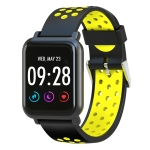 SN60 Plus 1.22 inch Screen Display Bluetooth Smart Watch, Support Heart Rate Monitor / Blood Pressure / Blood Oxygen, Compatible with Android and iOS Phones(Yellow)