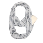 Multi-function Fashion Zip Pocket Design Scarf(White Gray Arrow)