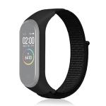 Smart Watch Nylon Woven Wrist Strap Watchband for Xiaomi Mi Band 3 / 4 (Black)