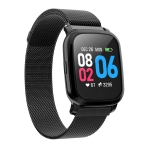 CV06 1.3 inch TFT Color Screen Steel Watch Strap Smart Bracelet, Support Call Reminder/ Heart Rate Monitoring /Blood Pressure Monitoring/ Sleep Monitoring/Blood Oxygen Monitoring(Black)