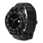 V9 3G+32G 1.6 inch IPS Screen IP67 Life Waterproof 4G Smart Watch, Support Heart Rate Monitoring / Message Notification / Phone Call / Dual Cameras (Black)