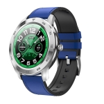 DT98 1.3 inch TFT Color Screen Leather Watchband Smart Watch, Support Call Reminder /Heart Rate Monitoring /Blood Pressure Monitoring /Sleep Monitoring (Blue)