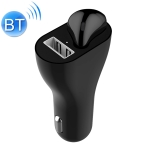 RV1 2 in 1 2.4A USB Port Car Charger & V5.0 Bluetooth Earphone Headset, Support Hands-free Call (Black)