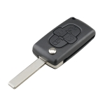 For CITROEN C8 / PEUGEOT 1007 Car Keys Replacement 4 Buttons Car Key Case with Grooved, without Holder