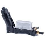 Car Oil Filter Housing Adapter Oil Radiator with Sensor 68105583AF with for Dodge / Chrysler