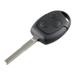 For Ford Focus Intelligent Remote Control Oval Car Key with 63 Chip 40 Bit & Battery, Frequency: 433MHz