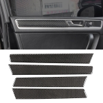 4 PCS Car Carbon Fiber Door Panel Decorative Sticker for Volkswagen Touareg