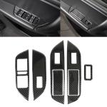 5 PCS Car Carbon Fiber Window Lift + Trunk Button Panel Decorative Sticker for Volkswagen Touareg