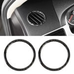 2 PCS Car Carbon Fiber Instrument Panel Air Outlet Decorative Sticker for Volkswagen Touareg
