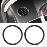 2 PCS Car Carbon Fiber Instrument Panel Air Outlet Decorative Sticker for Volkswagen Touareg