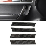 4 PCS Car Carbon Fiber Door Inner Handle Panel Decorative Sticker for Volkswagen Touareg