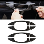 8 PCS Car Carbon Fiber Door Inner and Outer Handle Panel Decorative Sticker for Volkswagen Touareg