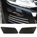 2 PCS Car Carbon Fiber Headlight Cleaning Cover Decorative Sticker for Volkswagen Touareg