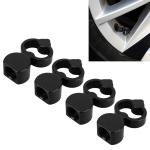 4 PCS Heart-shaped Gas Cap Mouthpiece Cover Tire Cap Car Tire Valve Caps (Black)
