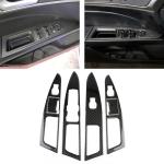 6 PCS Car Carbon Fiber Window Lift Panel ecorative Sticker for Ford New Mondeo