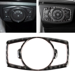 Car Carbon Fiber Headlight Adjustment Frame Decorative Sticker for Ford New Mondeo