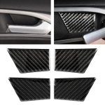 4 PCS Car Carbon Fiber Door Inner Handle Wrist Panel Decorative Sticker for Ford New Mondeo