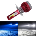 H4 DC9-36V / 36W / 6000K(High Beam) 8000K(Low Beam) / 8000LM IP68 Car Double Color LED Headlight Lamps
