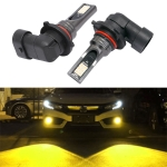 2 PCS 9006 DC12V-24V / 12W / 3000K / 800LM 12LEDs SMD-3030 Car LED Fog Light (Yellow Light)