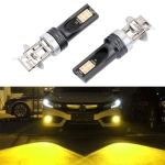 2 PCS H3 DC12V-24V / 12W / 3000K / 800LM 12LEDs SMD-3030 Car LED Fog Light (Yellow Light)